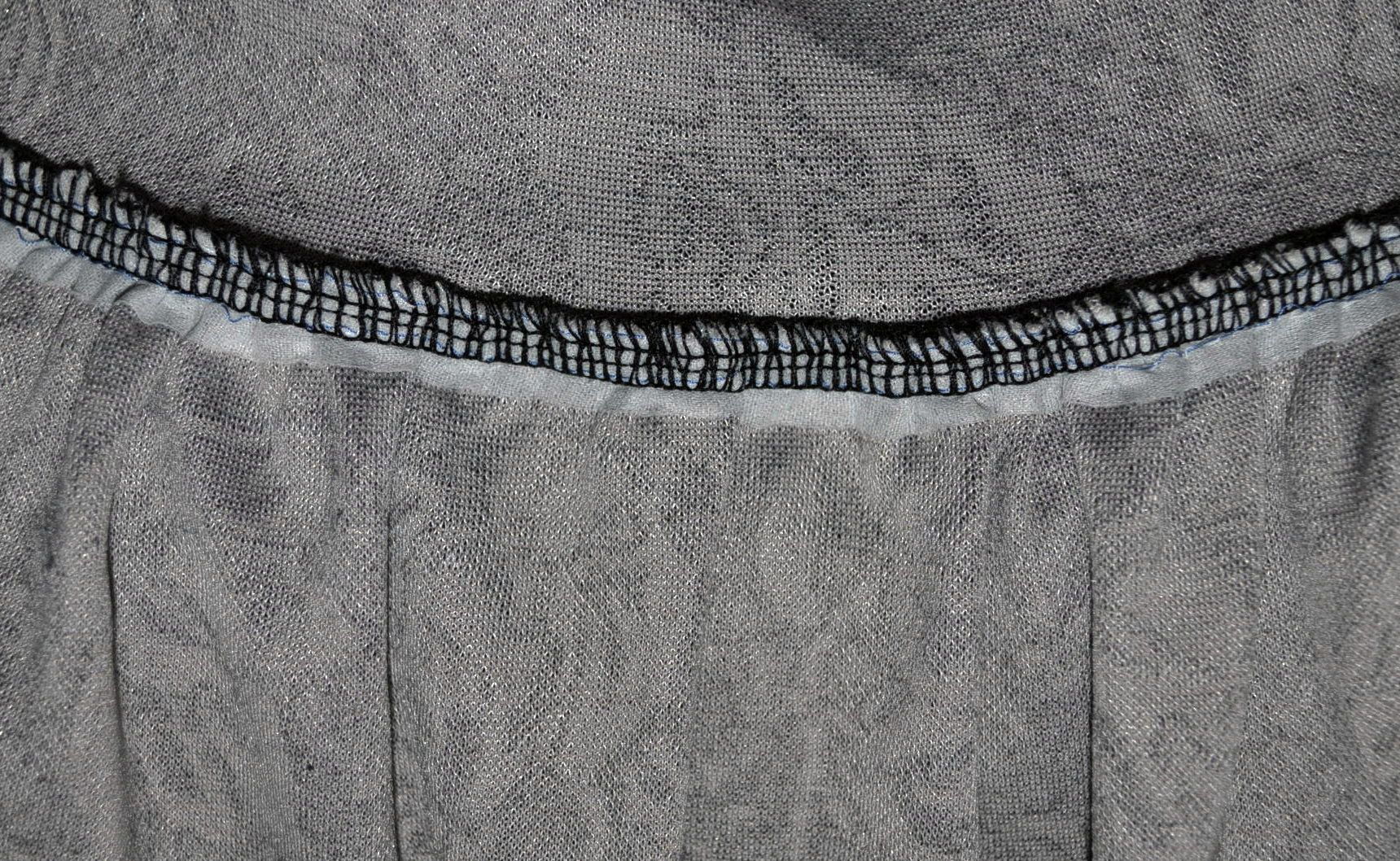 Perfectly gathered using Fuse 'N Gather and then sewed right into the seam.