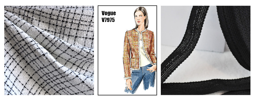 Plans for a Classic Boucle Jacket in White and Black
