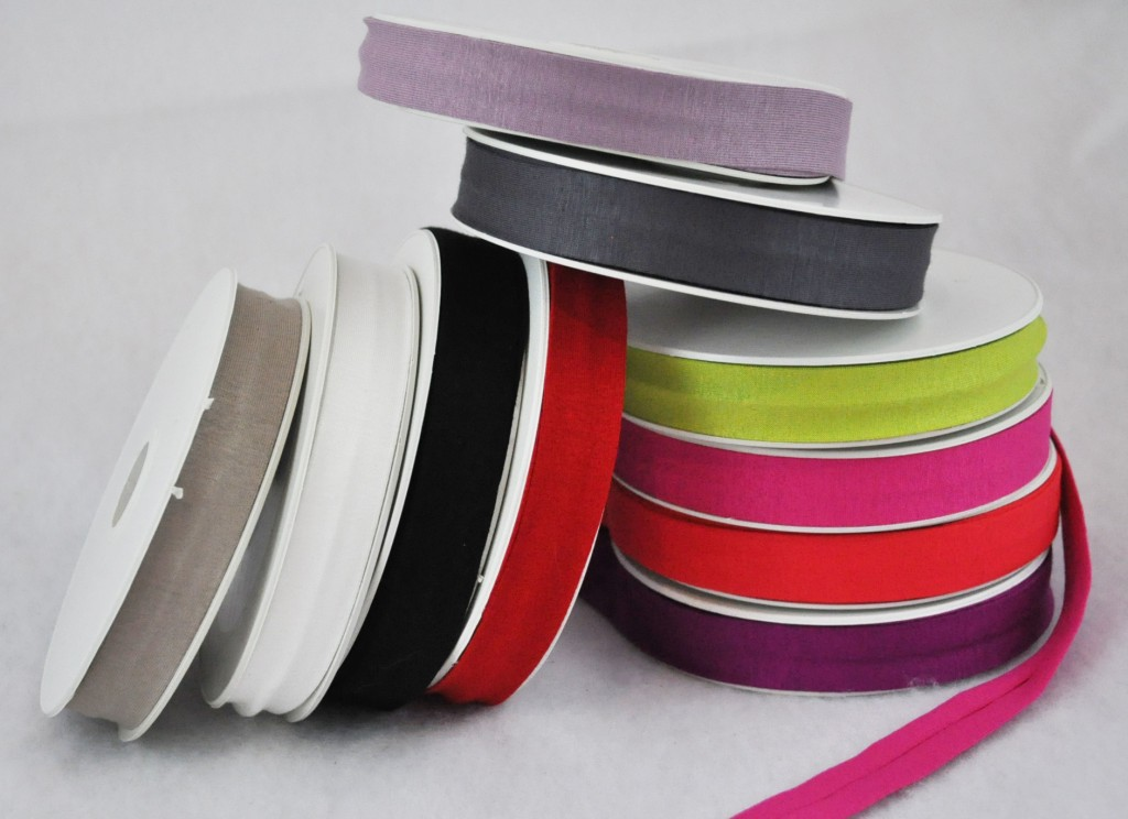 Jersey Bias Tape- Available in 19 colors (10 shown above)