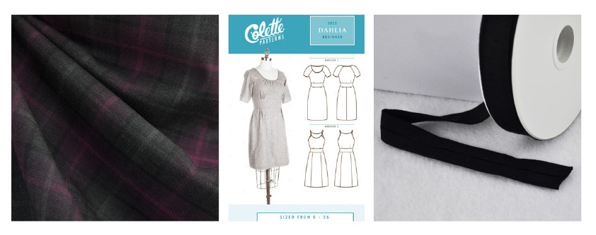 Plans for a Dahlia Dress with a Beautiful Wool Plaid
