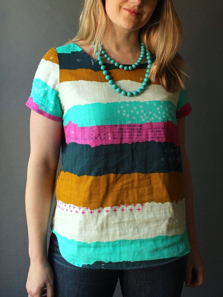Beatrix Top from Made by Rae in Cotton & Steel Double Gauze