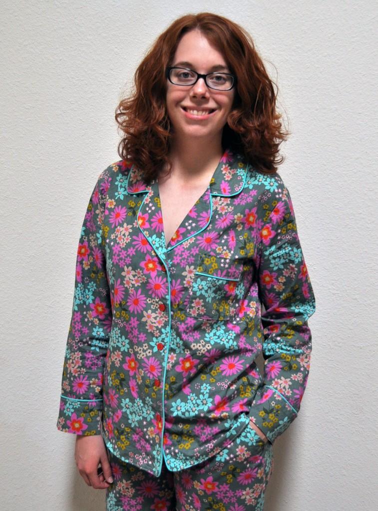 Carolyn Pajamas in Cotton & Steel Lawn
