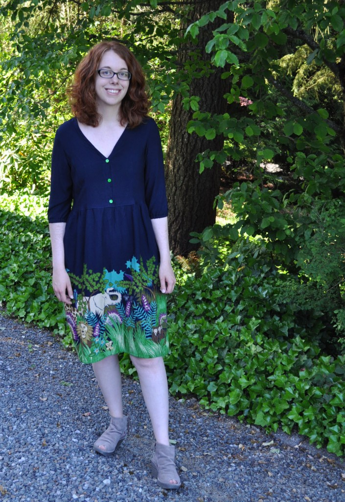 Finished Safari Darling Ranges Dress with Full Skirt
