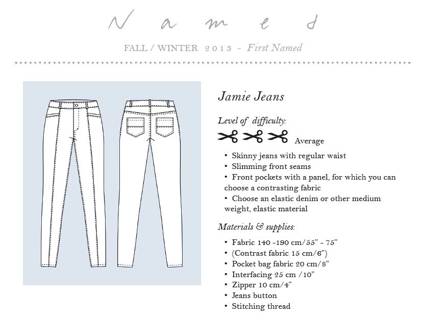 Named Clothing Jamie Jeans Pattern