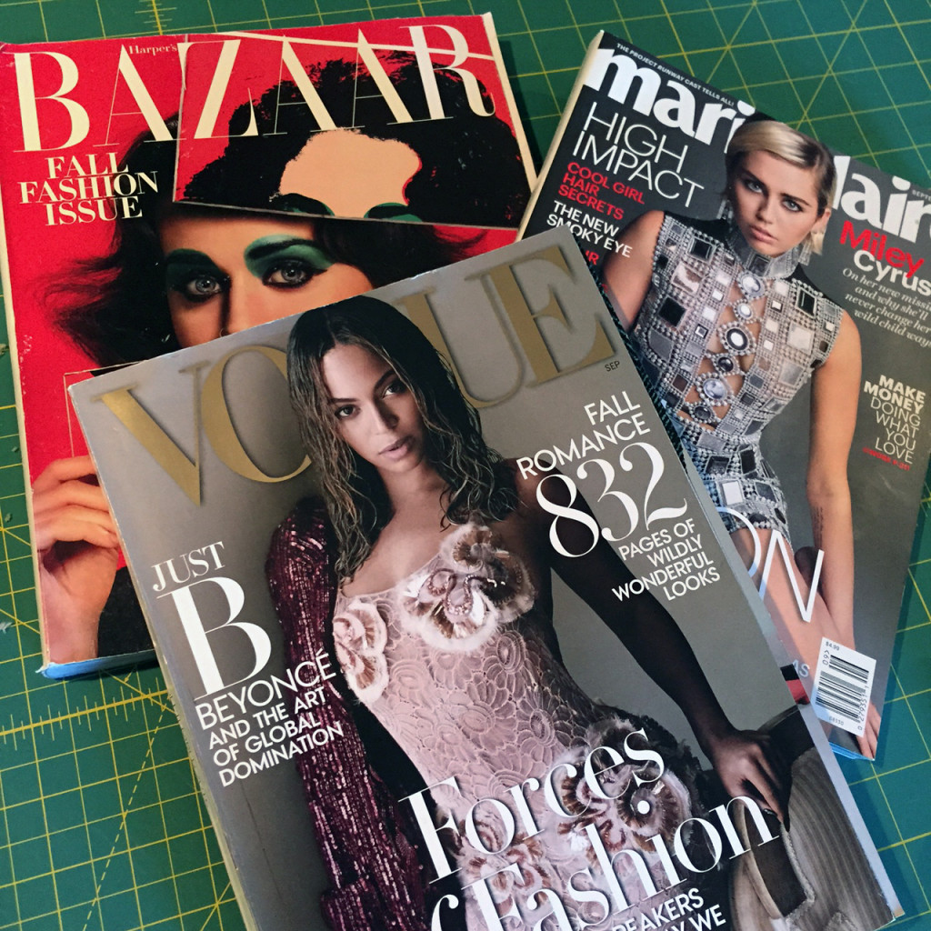 A few of our Fall Fashion Magazines!
