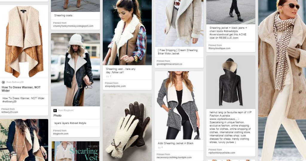Shearling Inspiration on Pinterest