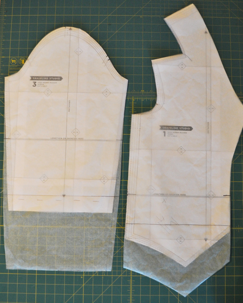 Lengthening the Morris Pattern Pieces