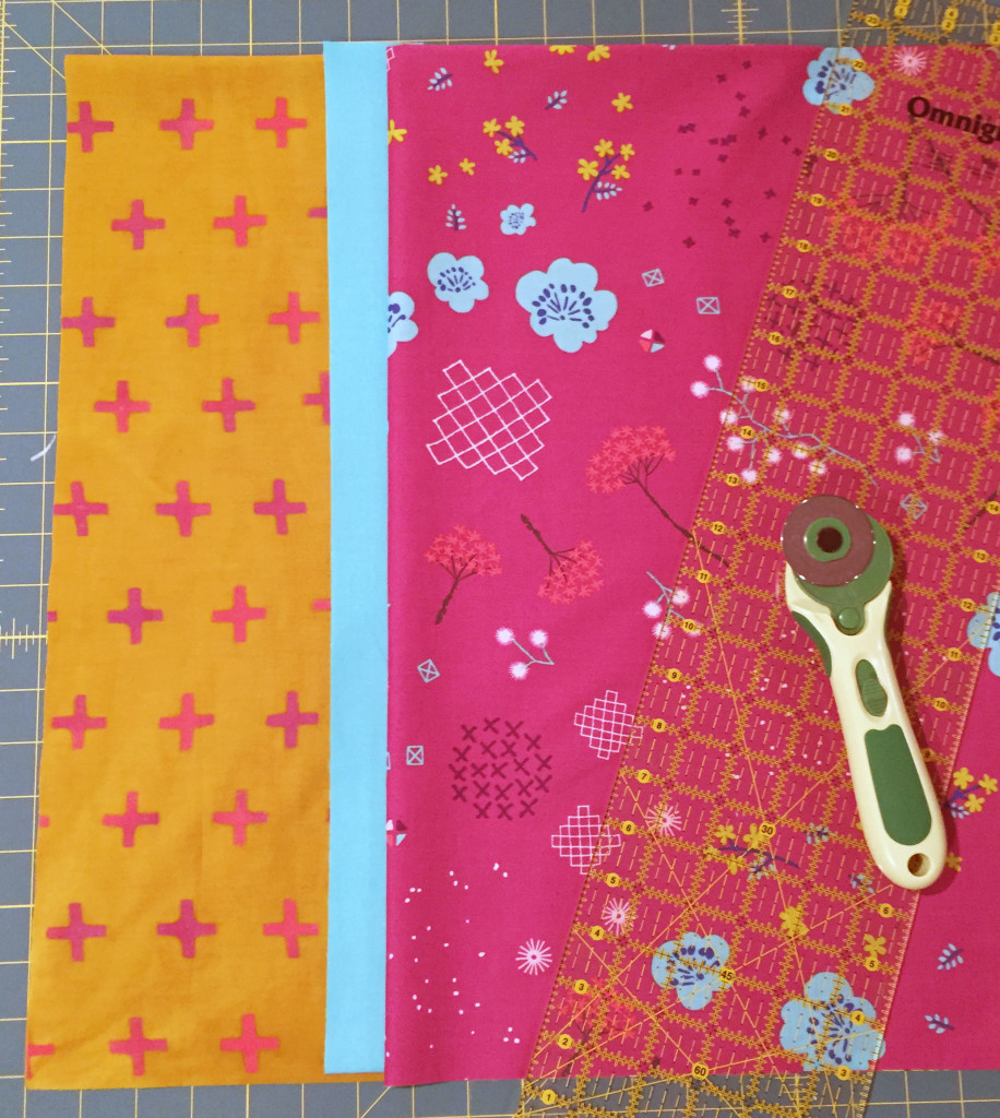 Cut fabric pieces for our pillowcase.
