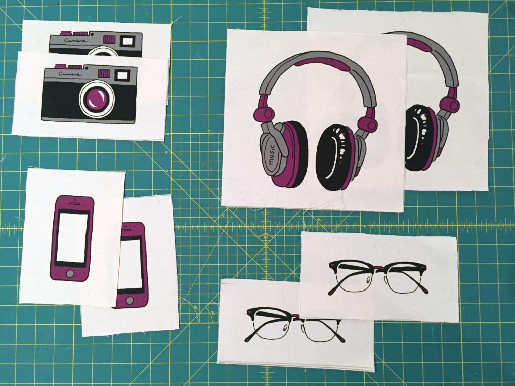 Cut panel accessory pieces.
