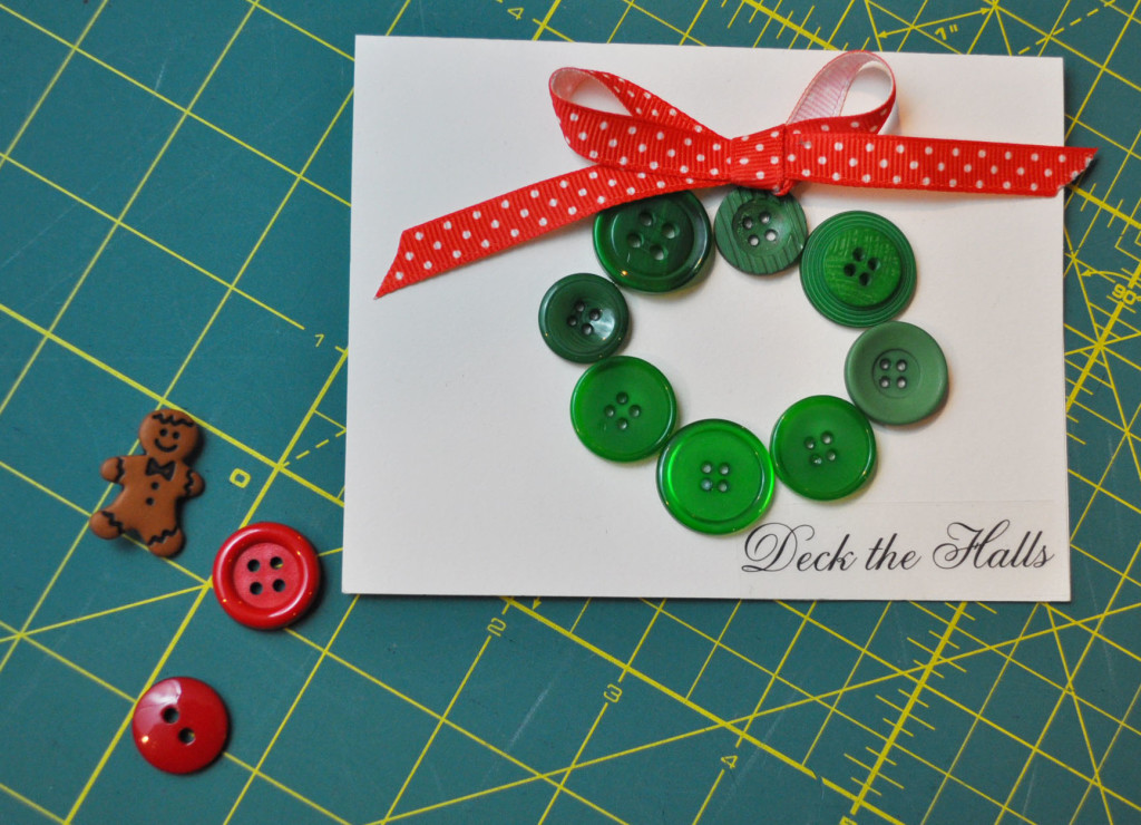 Button wreath card.