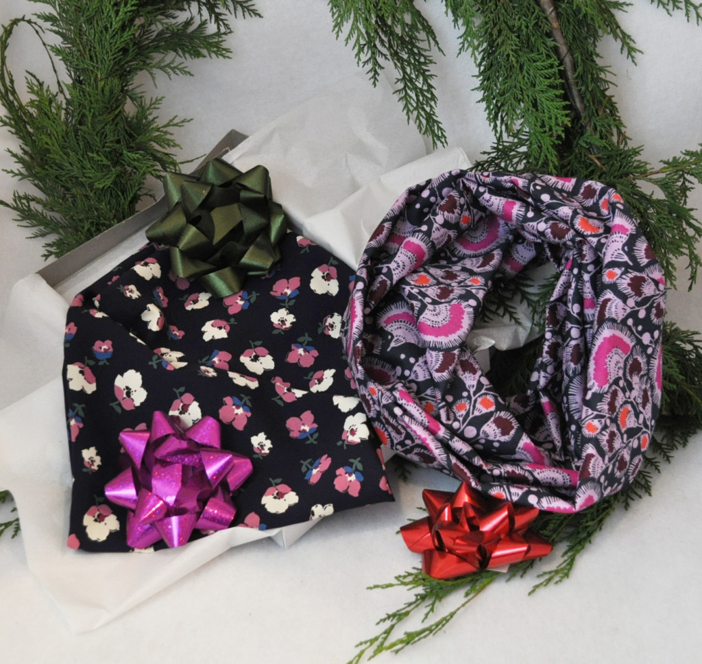 Give the gift of a beautiful infinity scarf.
