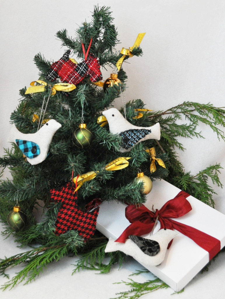 Handmade Ornaments from Apparel Fabrics