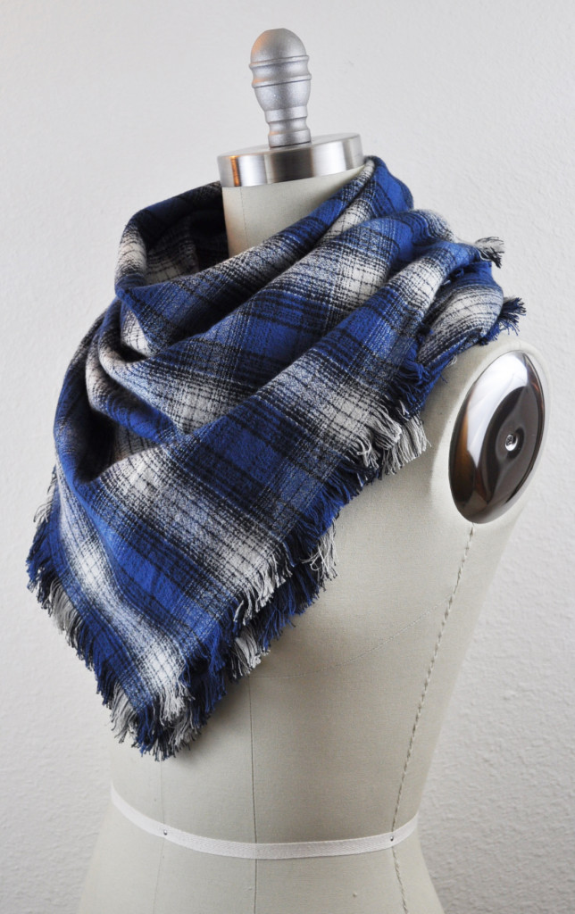 Fringed Mammoth Flannel Scarf
