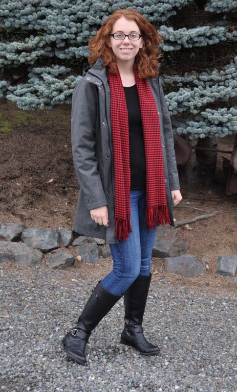 Woven Houndstooth Scarf