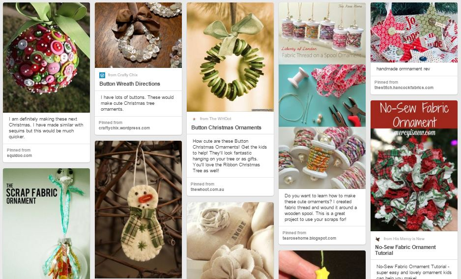 Other Handmade Ornament Inspiration on Pinterest