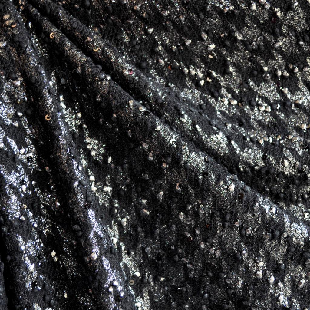 Metallic Houndstooth Sweater Knit