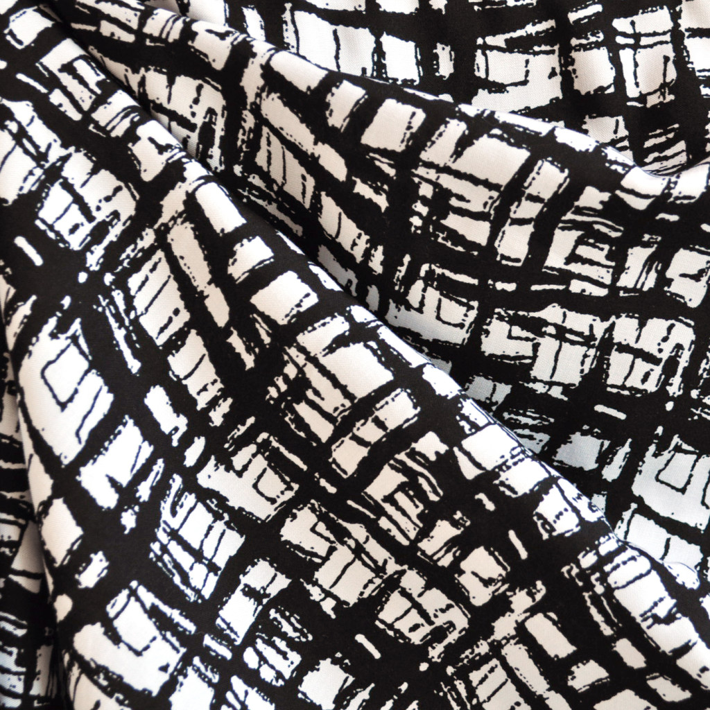 Abstract Plaid Rayon Challis