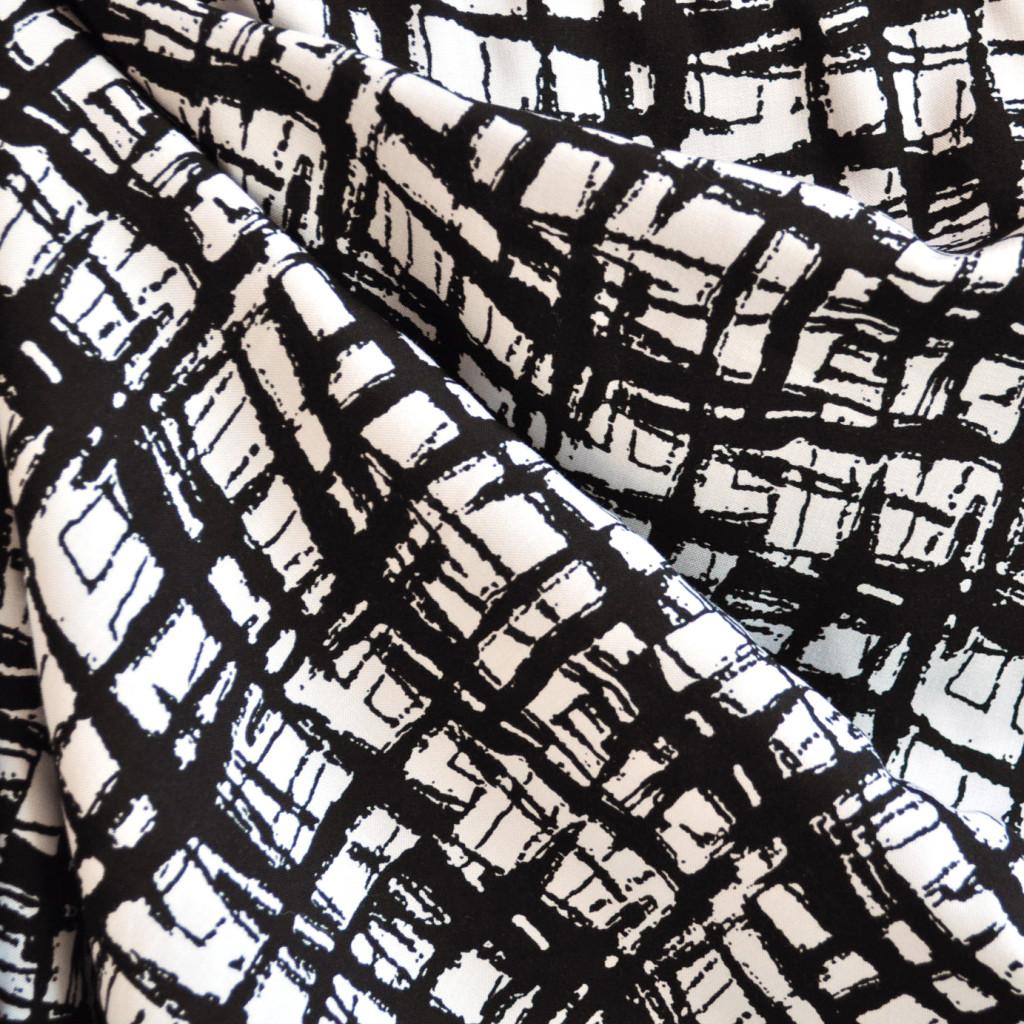 Abstract Plaid Rayon Challis
