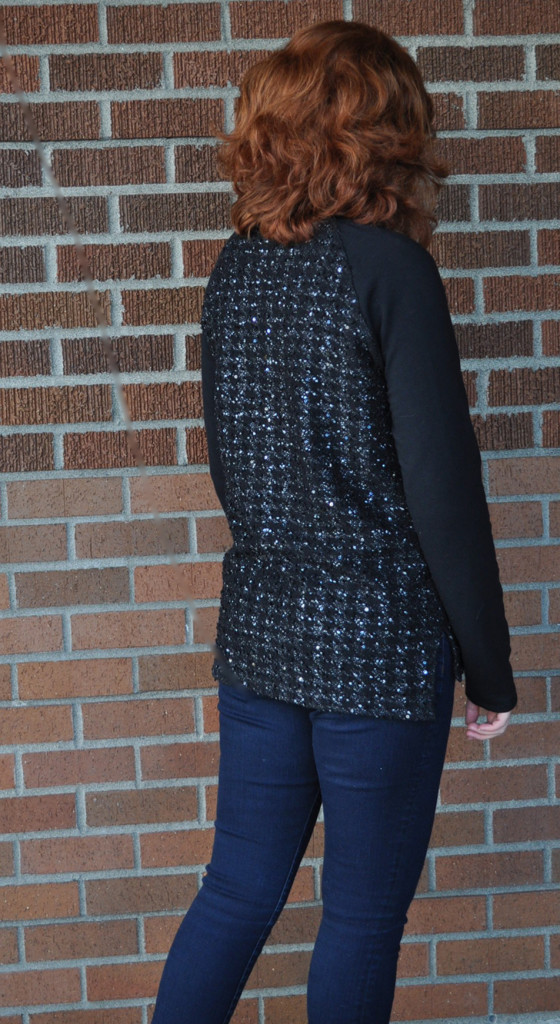 Love this Houndstooth Metallic Sweater Knit Linden