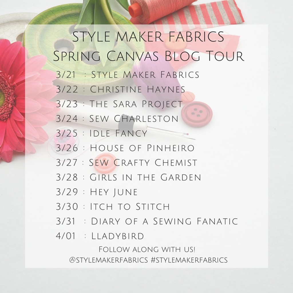 Spring Canvas Blog Tour Participants and Dates