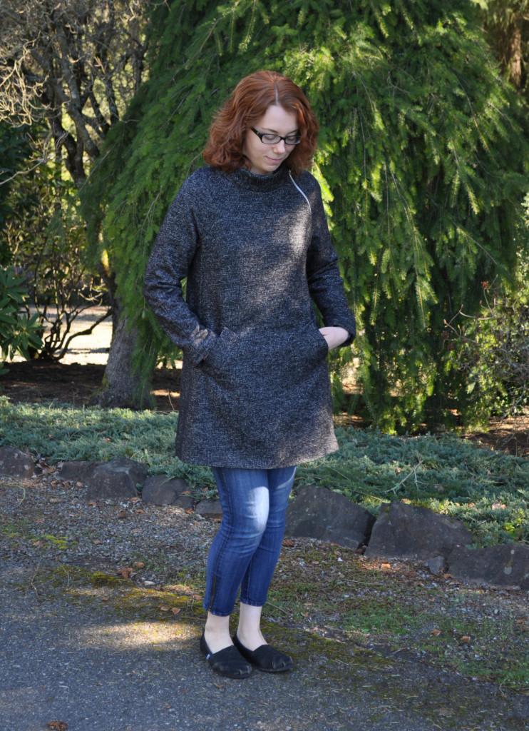Clare Coat Welt Pockets