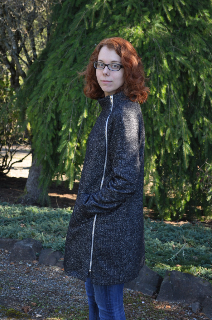 Clare Coat Side Zipper