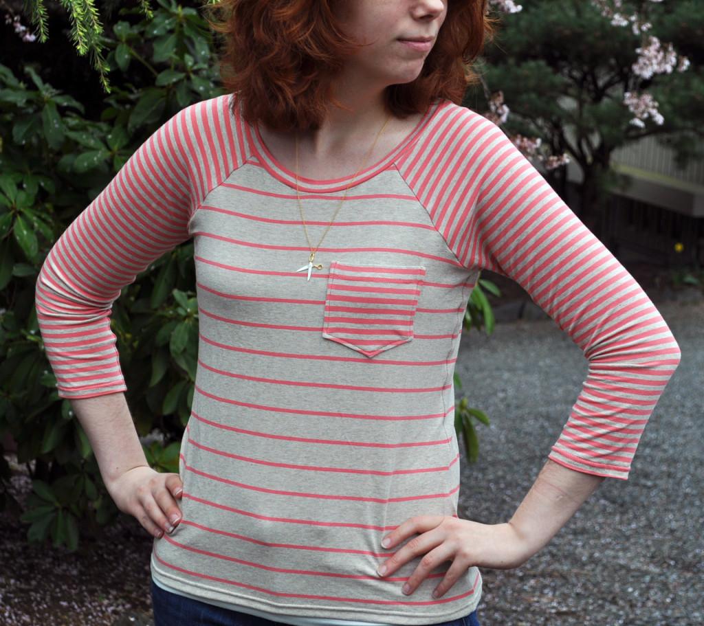 Lane Raglan in Matching Stripes