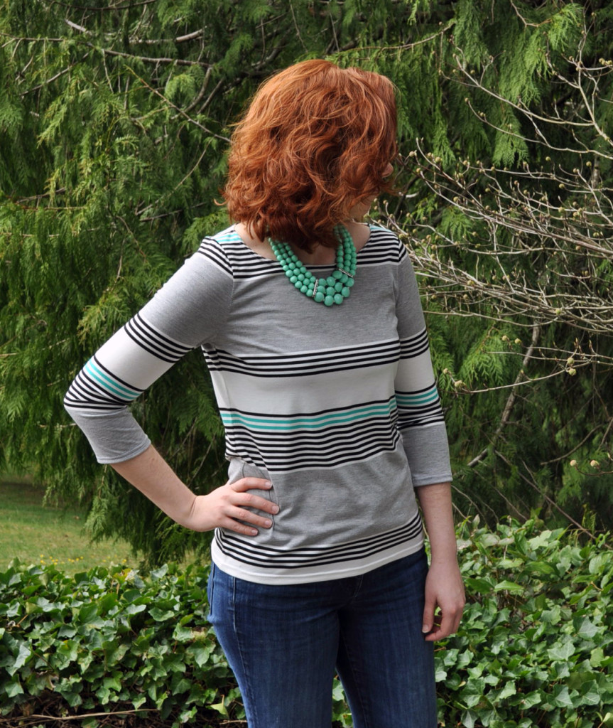 Lark Tee in a Wide Repeating Stripe Jersey