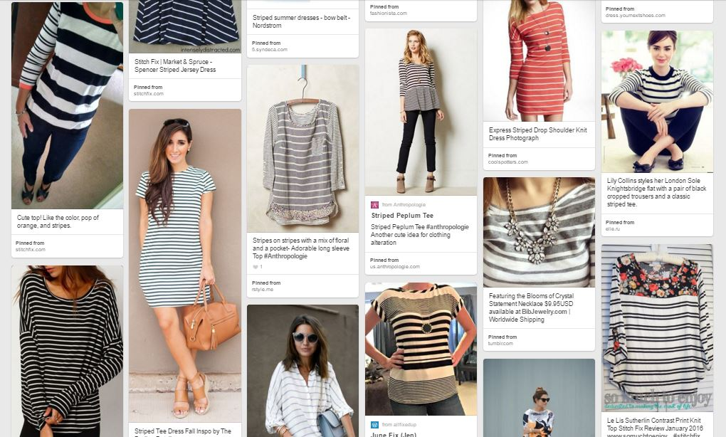 Sewing with Stripes Pinterest Inspiration