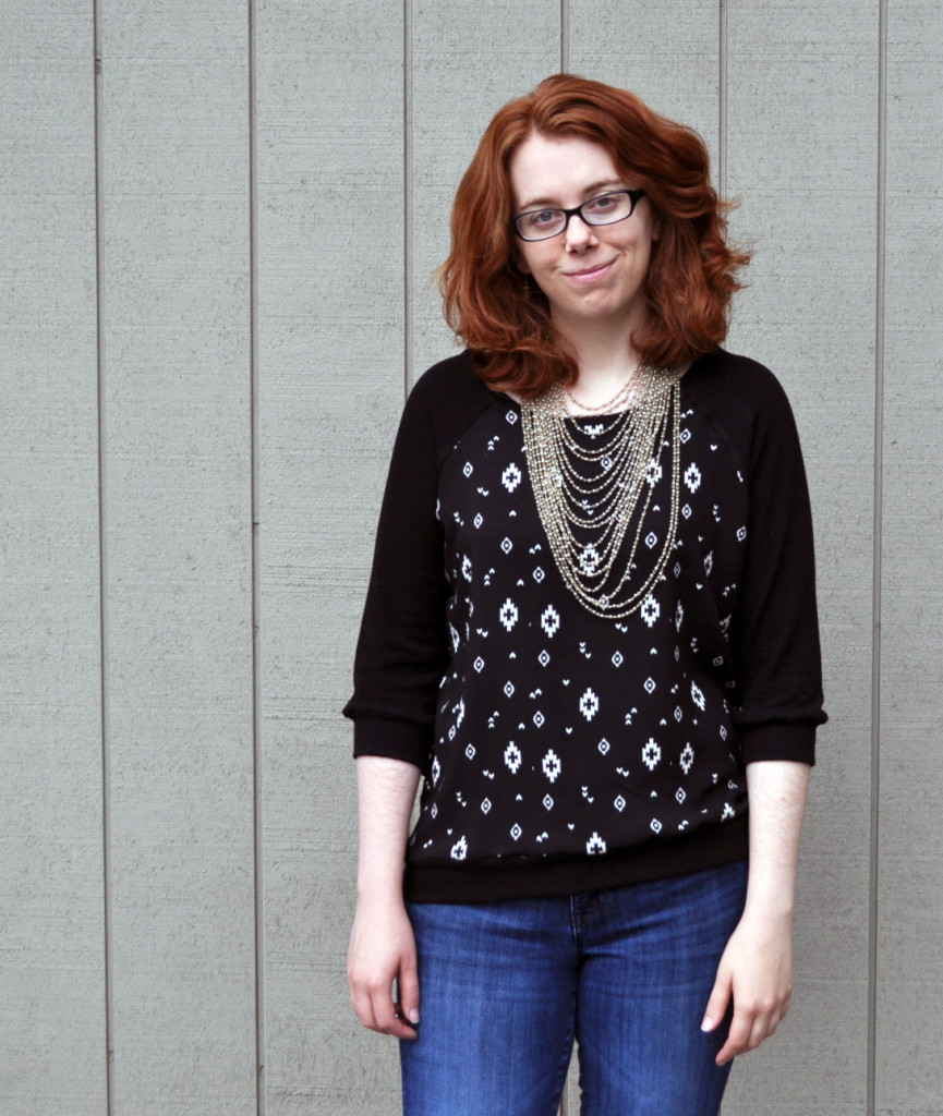 Woven Meets Knit Linden Pullover