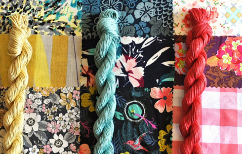 A few of our favorite fabric choices paired with Sparrow yarns.