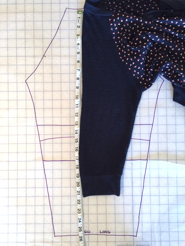 Determining the Sleeve Length and Altering the Pattern