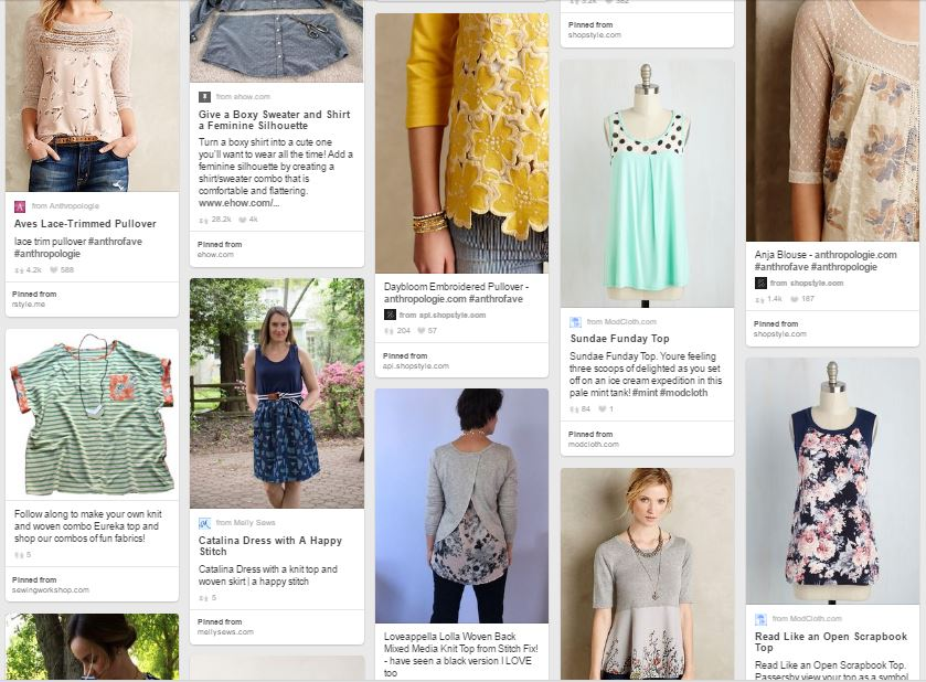 Pinterest Inspiration Board: Knits + Wovens