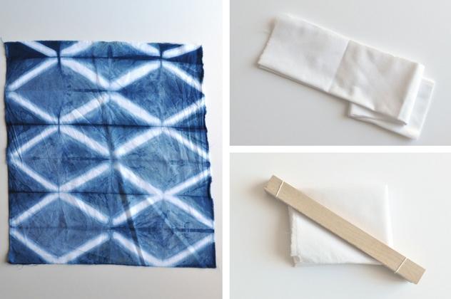 Diamond Pattern Resistance Dyeing