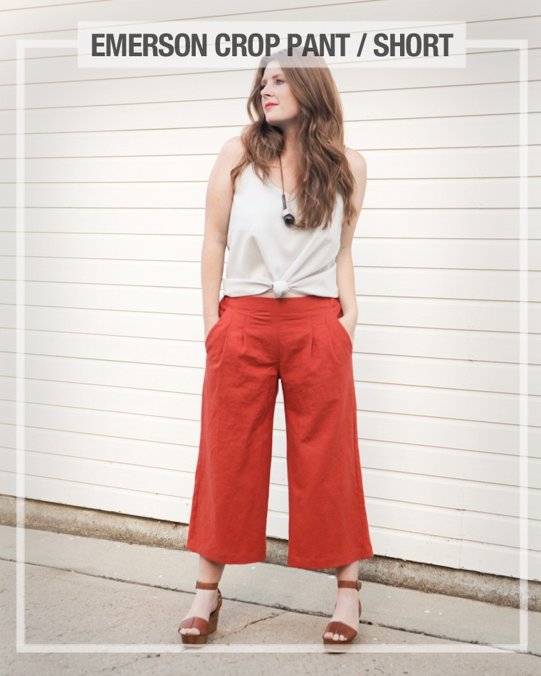 Emerson Crop Pants Pattern from True Bias