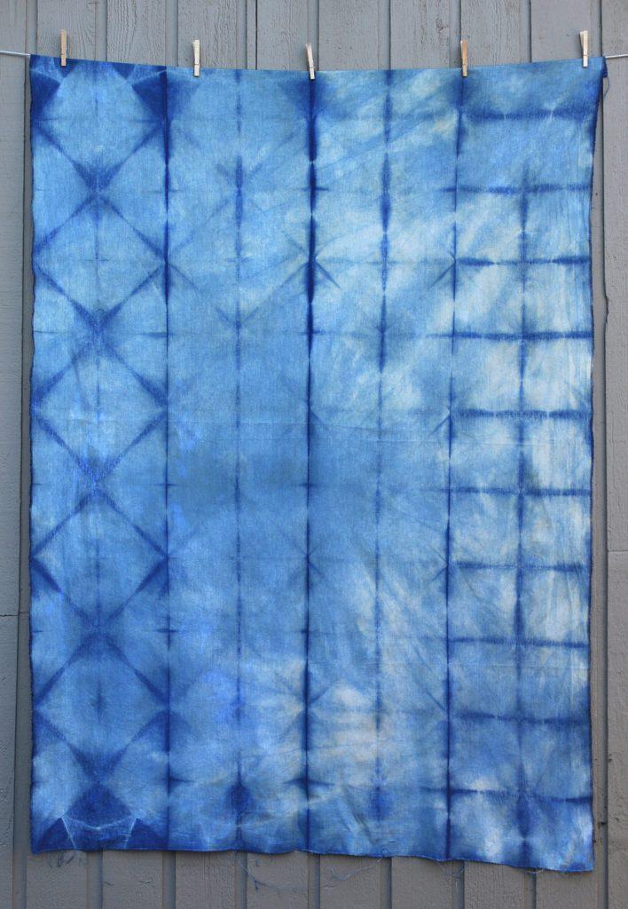 Fold Resistance Shibori with a Linen/Rayon Blend