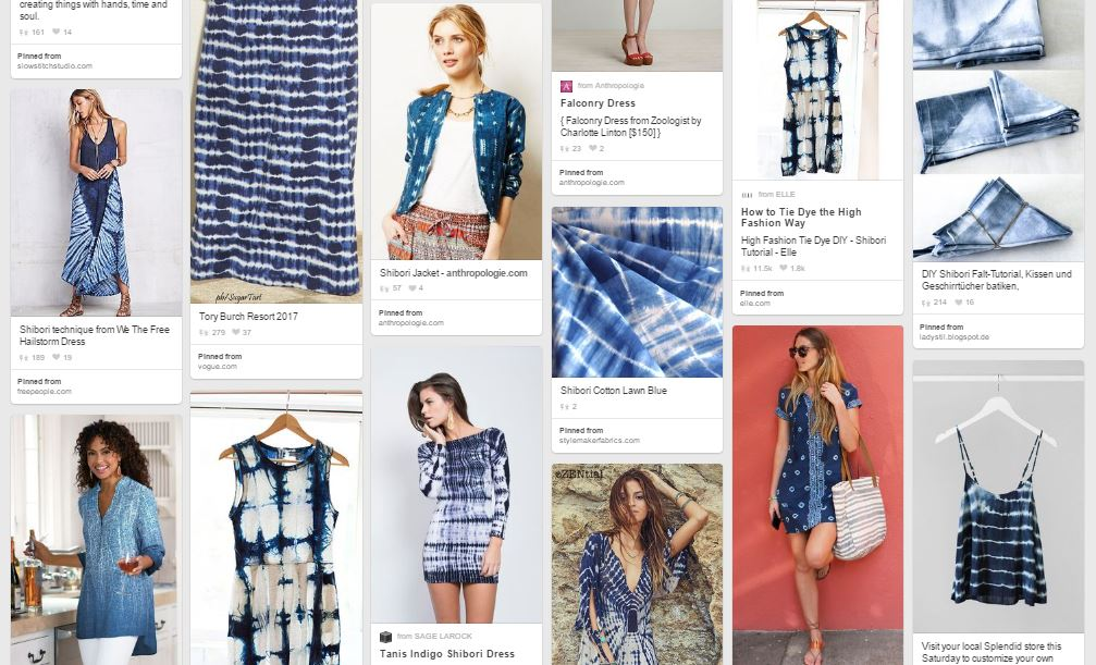 Shibori Inspiration Pinterest Board