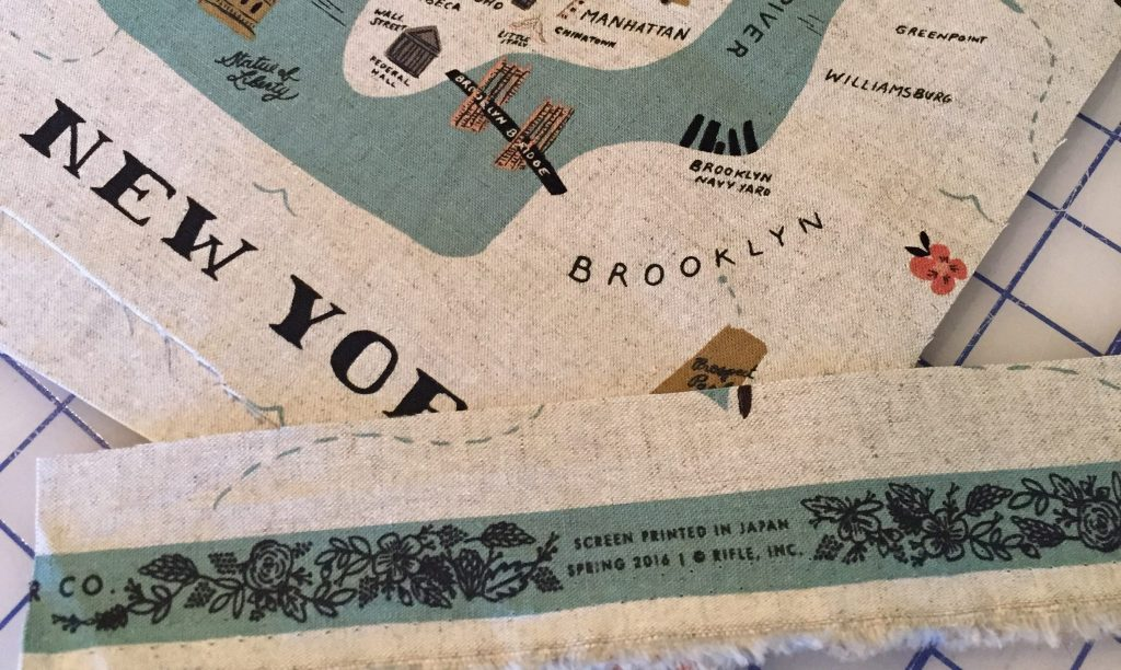 City Map and Selvage Detail