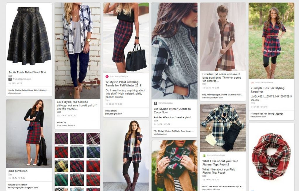 Plaid Fashion Inspiration Board on Pinterest