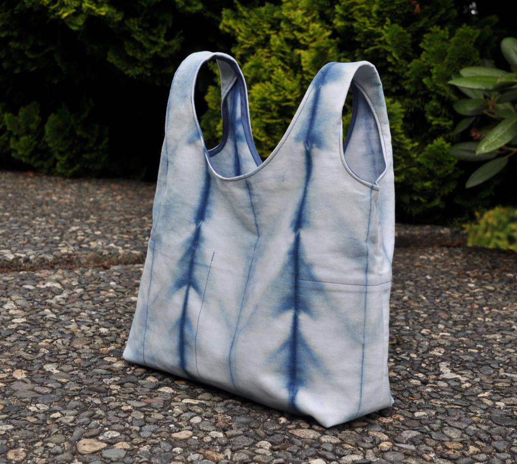 Hand Dyed Shibori Stowe Bag