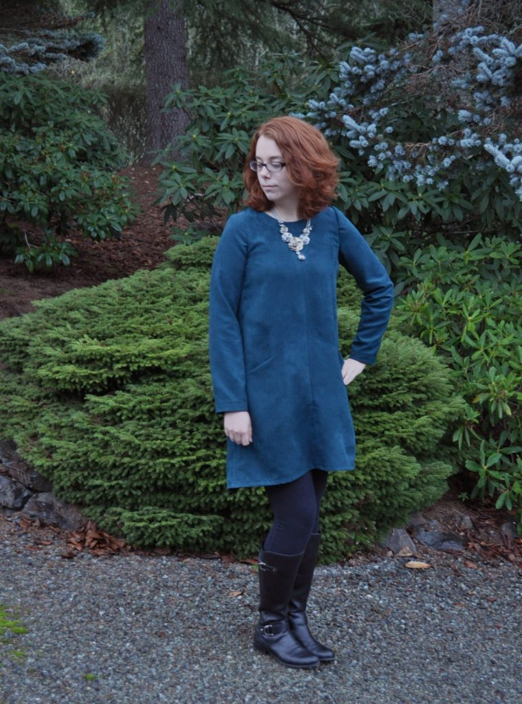 Compete Farrow Dress in Jade Suede