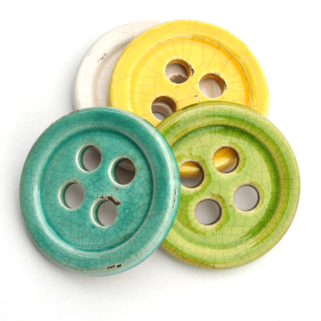 Ceramic Button Pattern Weights | Style Maker Fabrics Sewing Gift Guide