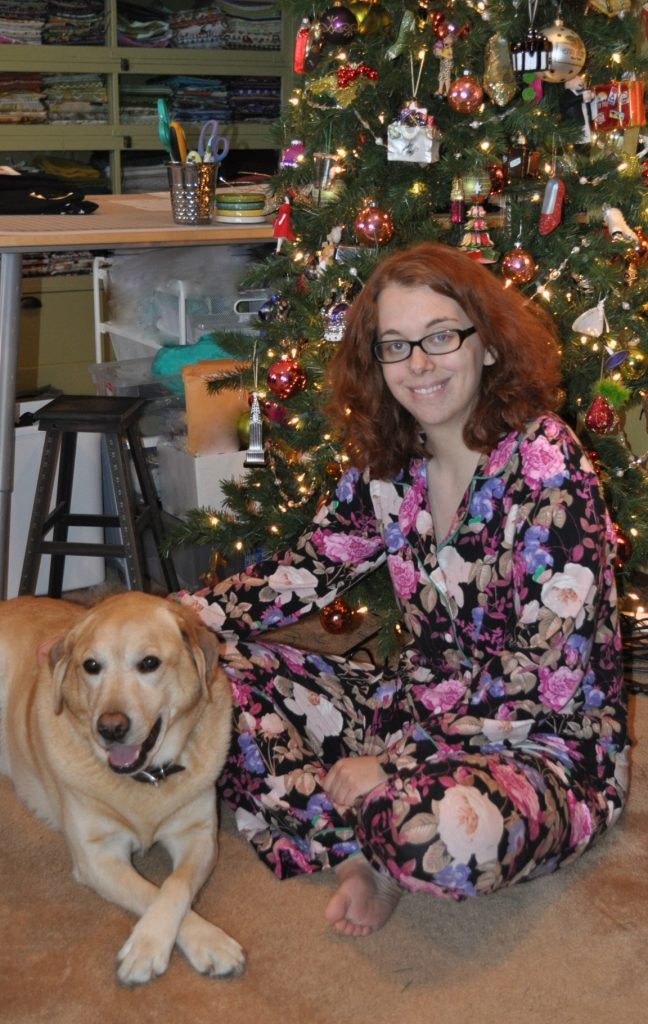 Cozy Knit Carolyn Pajamas with the Official Blog Dog, Toby