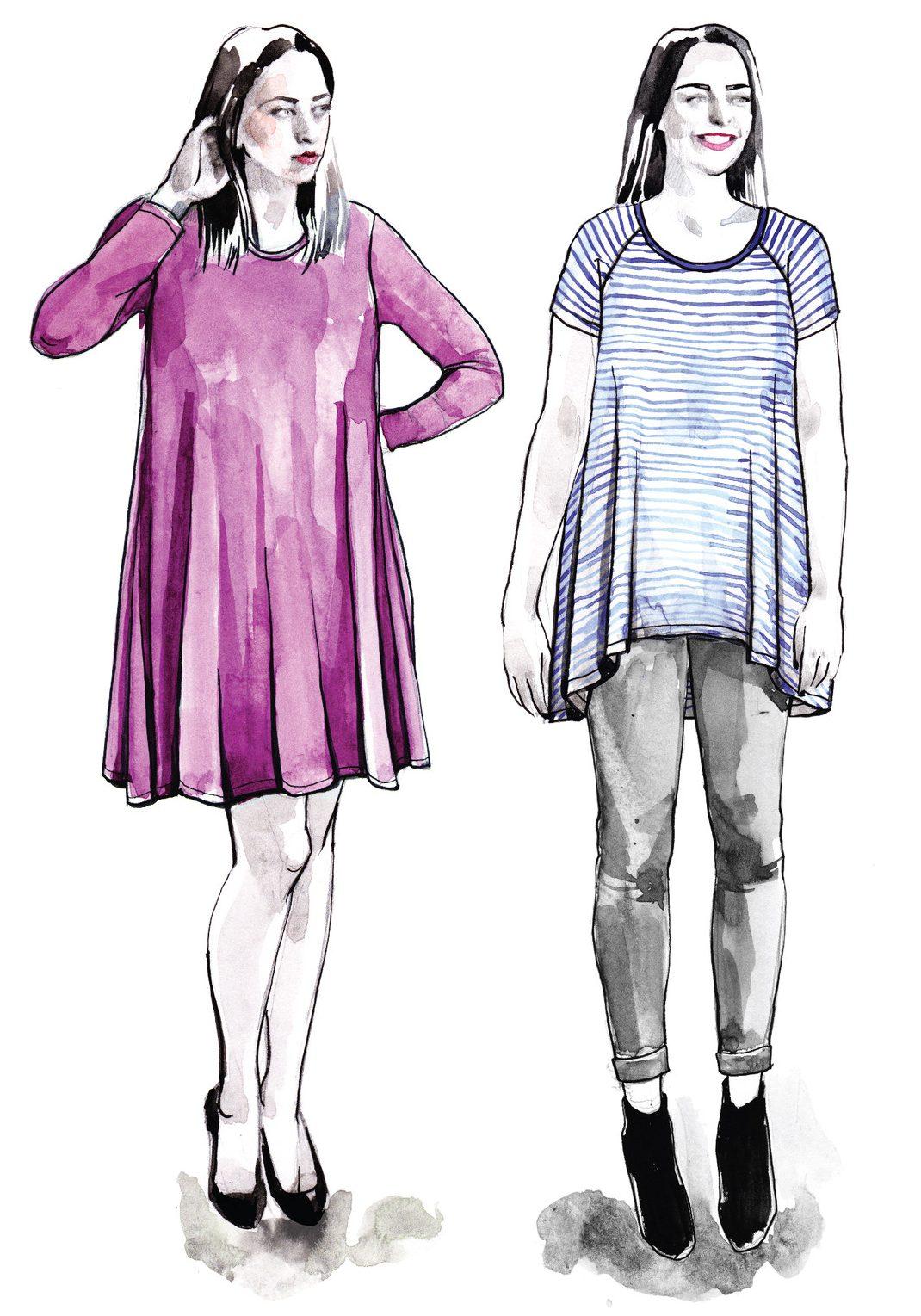 Ebony Tee Pattern | Style Maker Fabrics