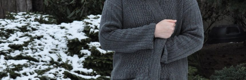 Bundled Up in Esme Cardigan | Style Maker Fabrics