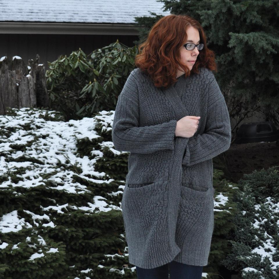 Bundled Up in Esme Cardigan | Style Maker Fabrics