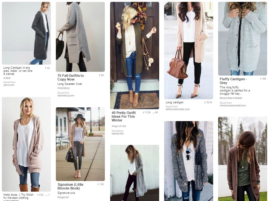 Pinterest Cardigan Inspiration | Style Maker Fabrics