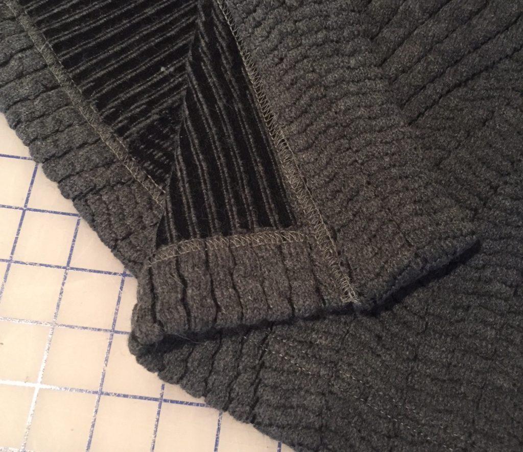 Cover Stitched Cardigan Hem | Style Maker Fabrics