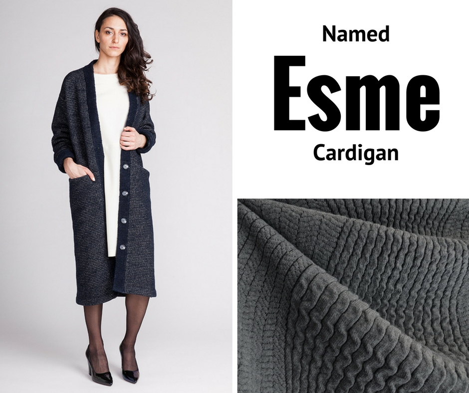 Named Esme Cardigan | Style Maker Fabrics Sweater Knit
