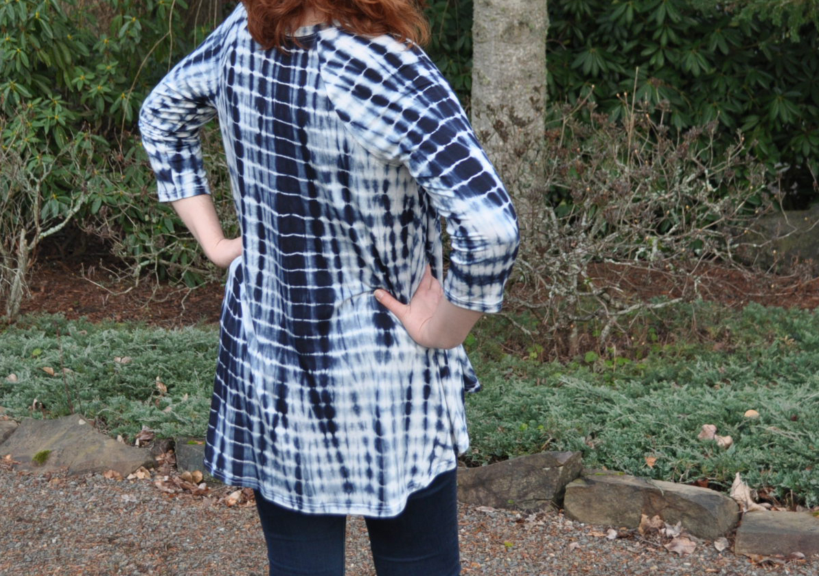 Shibori Ebony Back | Style Maker Fabrics